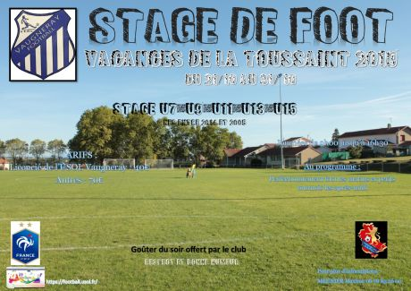 Stages de Foot Toussaint 2019